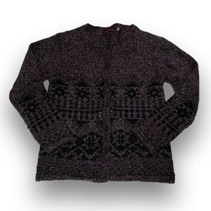 Catimini Girl's Gray and Black Sweater - Size 8